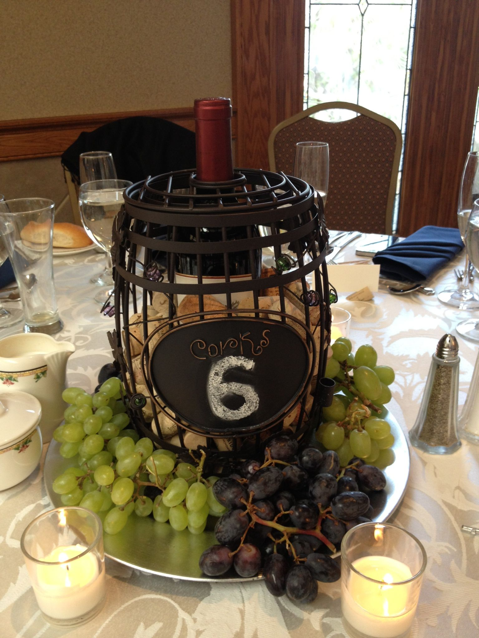 Wine theme centerpiece