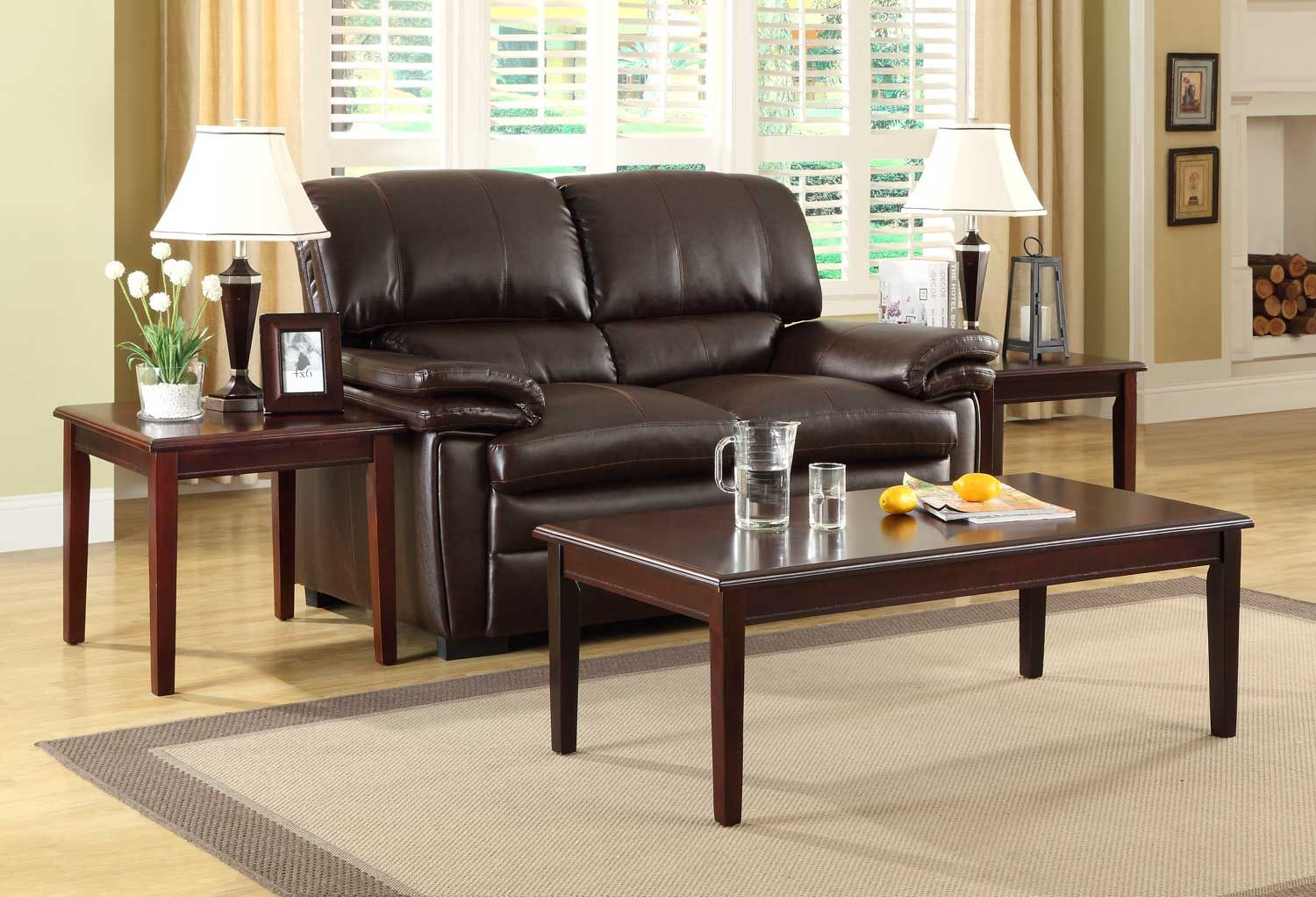 Homelegance Arlo 3pc Occasional Set Cherry A Perfect Addition In Traditional Or Transitional Spaces The Arlo Collect Furniture Furnishing Small Spaces Home [ 1022 x 1500 Pixel ]