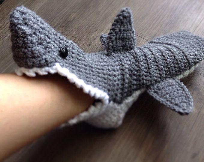 Sock Monkey Slippers for Adults Knitting Pattern | Shark ...