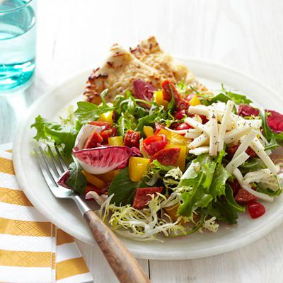 Pepperoni Pizza Salad Recipe  Don't use dressing in recipe!  House Italian much better!
