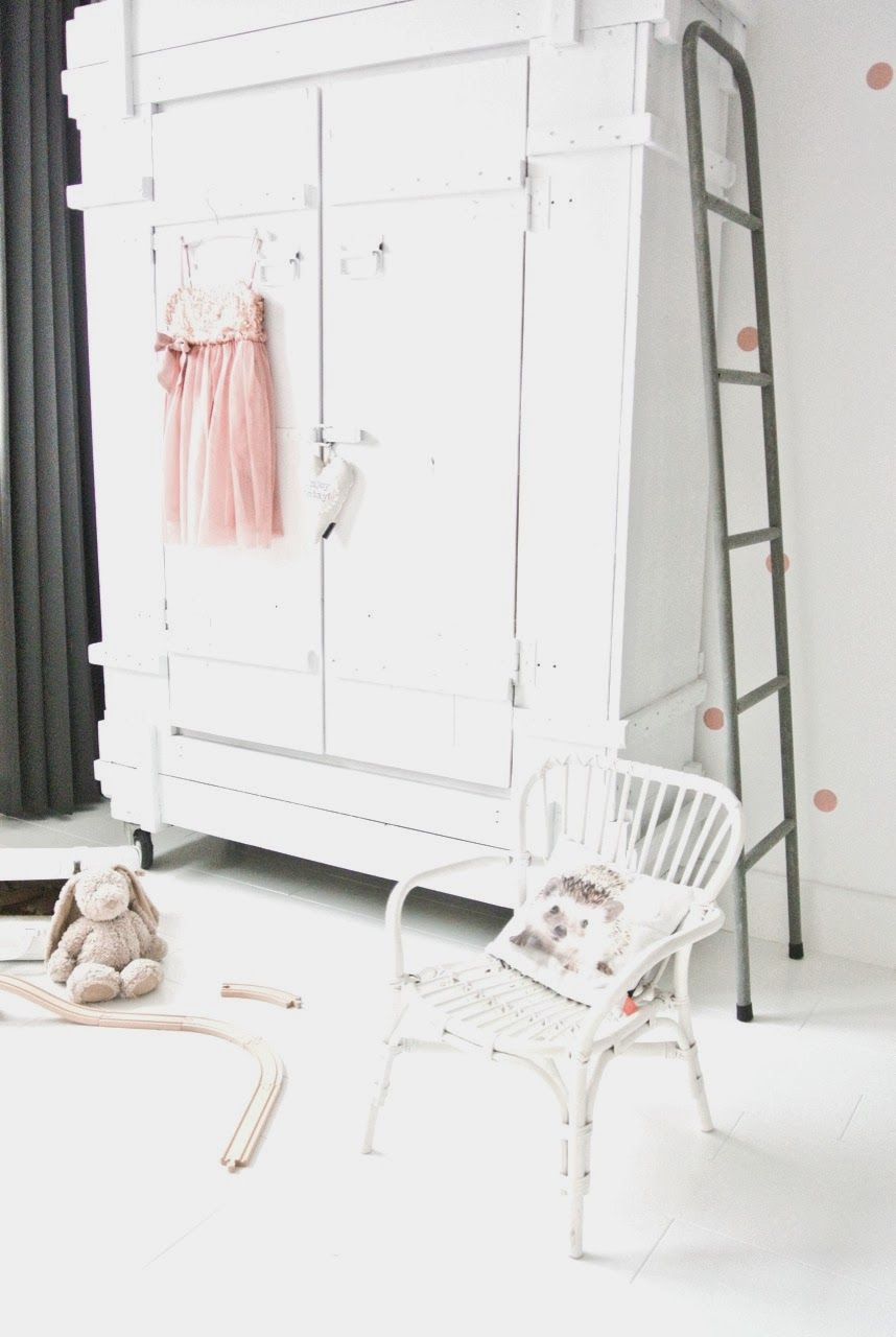 Decoratie Ladder Babykamer Diy Stippenwand Op Blog Lekker Fris Baby Love Pinterest Kids