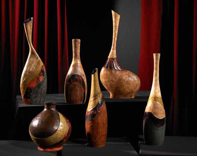 jarrones decorativos de madera coleccion tribal decoracion beltran ideas en decoracion de interiores - Jarrones Decorativos