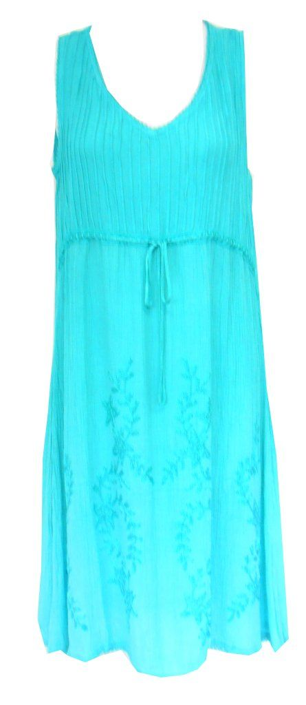 ed2e5d50b50c4 Raya Sun Missy and Plus Size Embroidered Pintuck Ombre Dress Cover Up at  Amazon Women s Clothing store  Plus Size Sundresses For Women