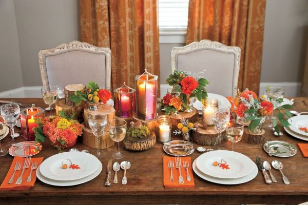 Thanksgiving Light Decorations   Tablescapes, Bunga