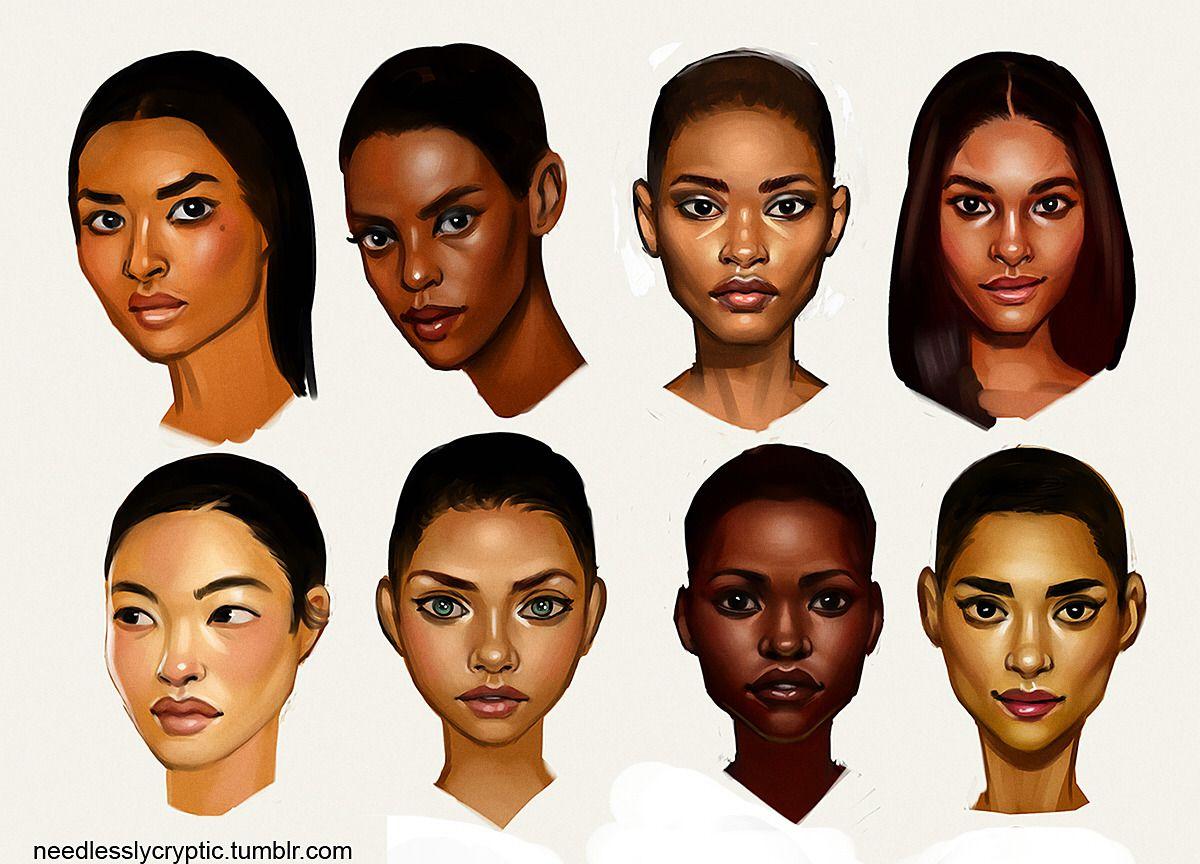 Inspo Needlesslycryptic Skin Tone Study Black Skin Tones Dark Skin Beauty Skin Tones