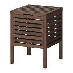 MOLGER Sgabello con contenitore - marrone scuro - IKEA | BAGNO ...