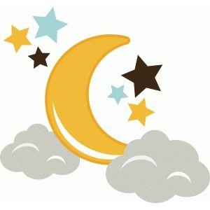 Silhouette Design Store View Design 44917 Moon Stars And Clouds Stars And Moon Clouds And Stars Tattoo Moon Cartoon