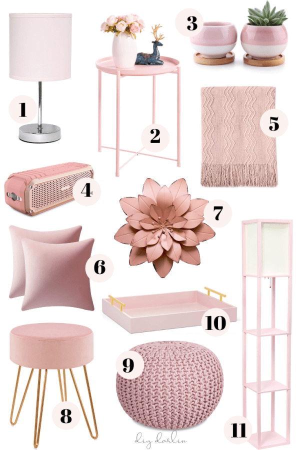 How To Add Pink Decor To Create A Chic Home Diy Darlin Pink Room Decor Rose Gold Room Decor Amazon Home Decor