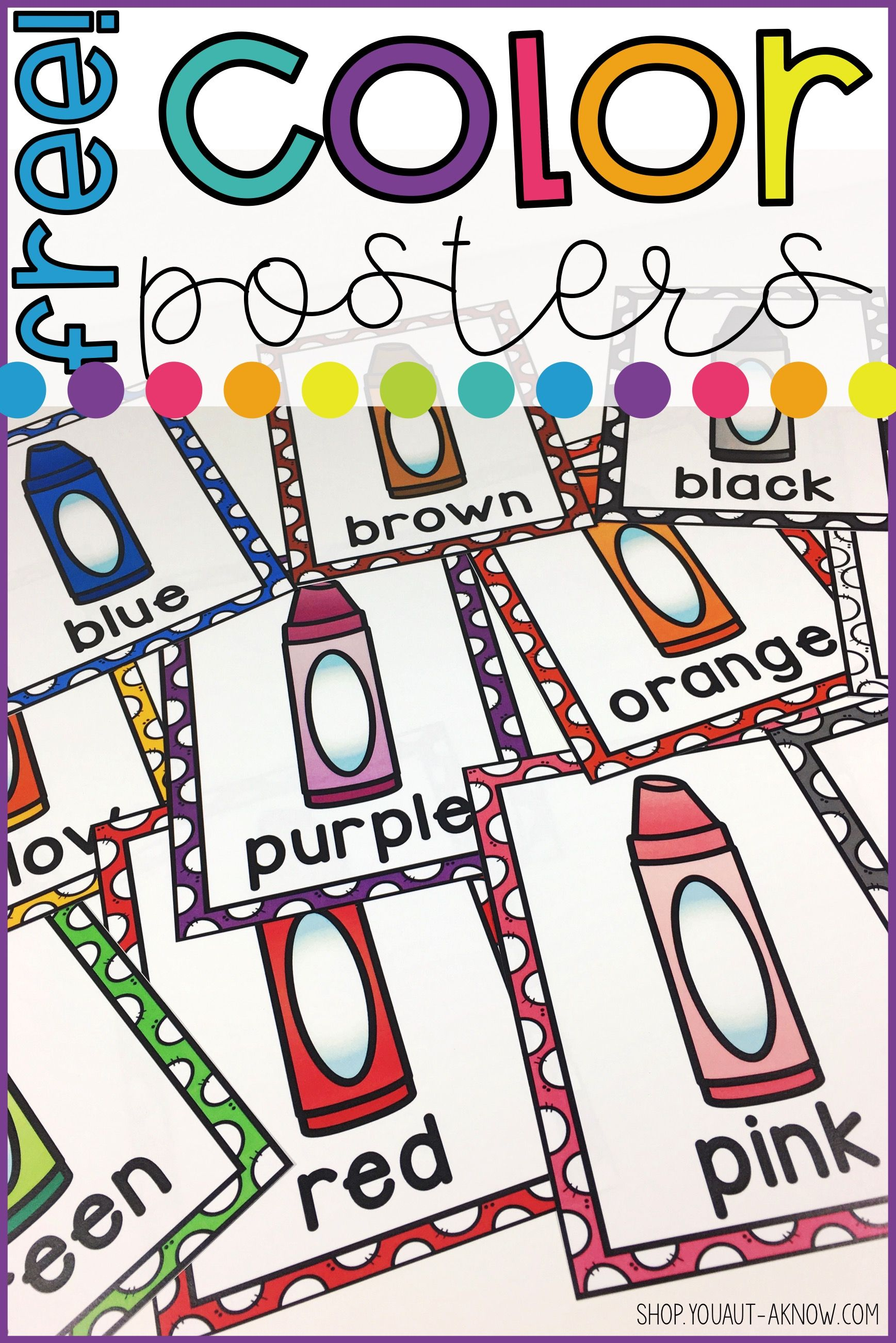 Back To School Color Posters
