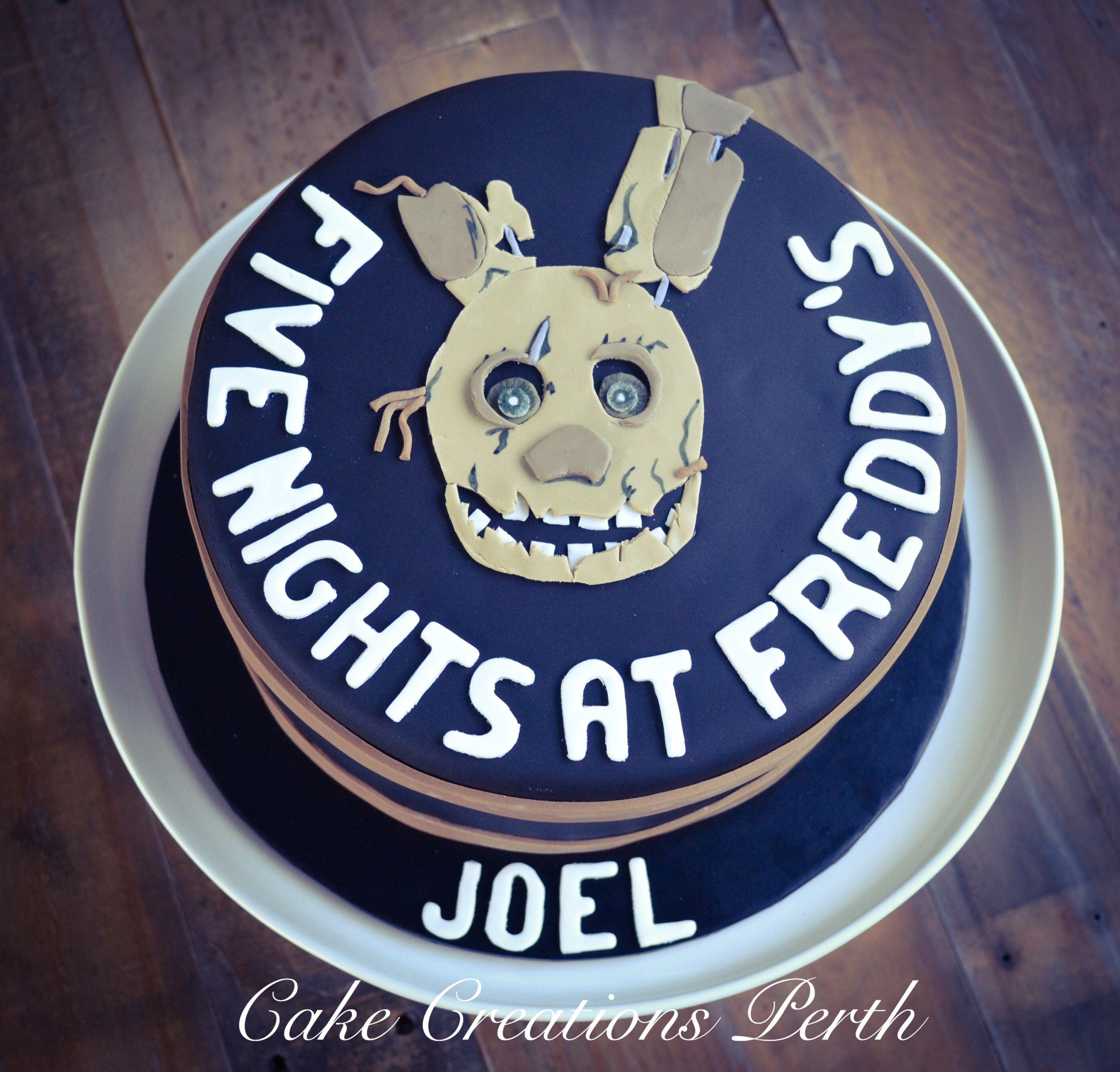 Five Nights At Freddys Spring Trap Cake Birthday Pinterest
