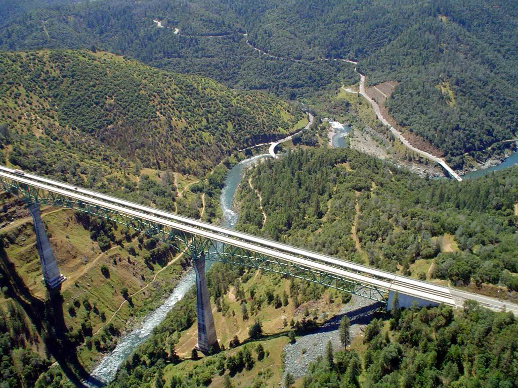 Auburn Ca Images Panoramio Photo Of Foresthill Bridge From Helicopter