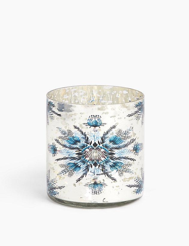 Glass Snowflake Tea Light Holder Candle holders Marks