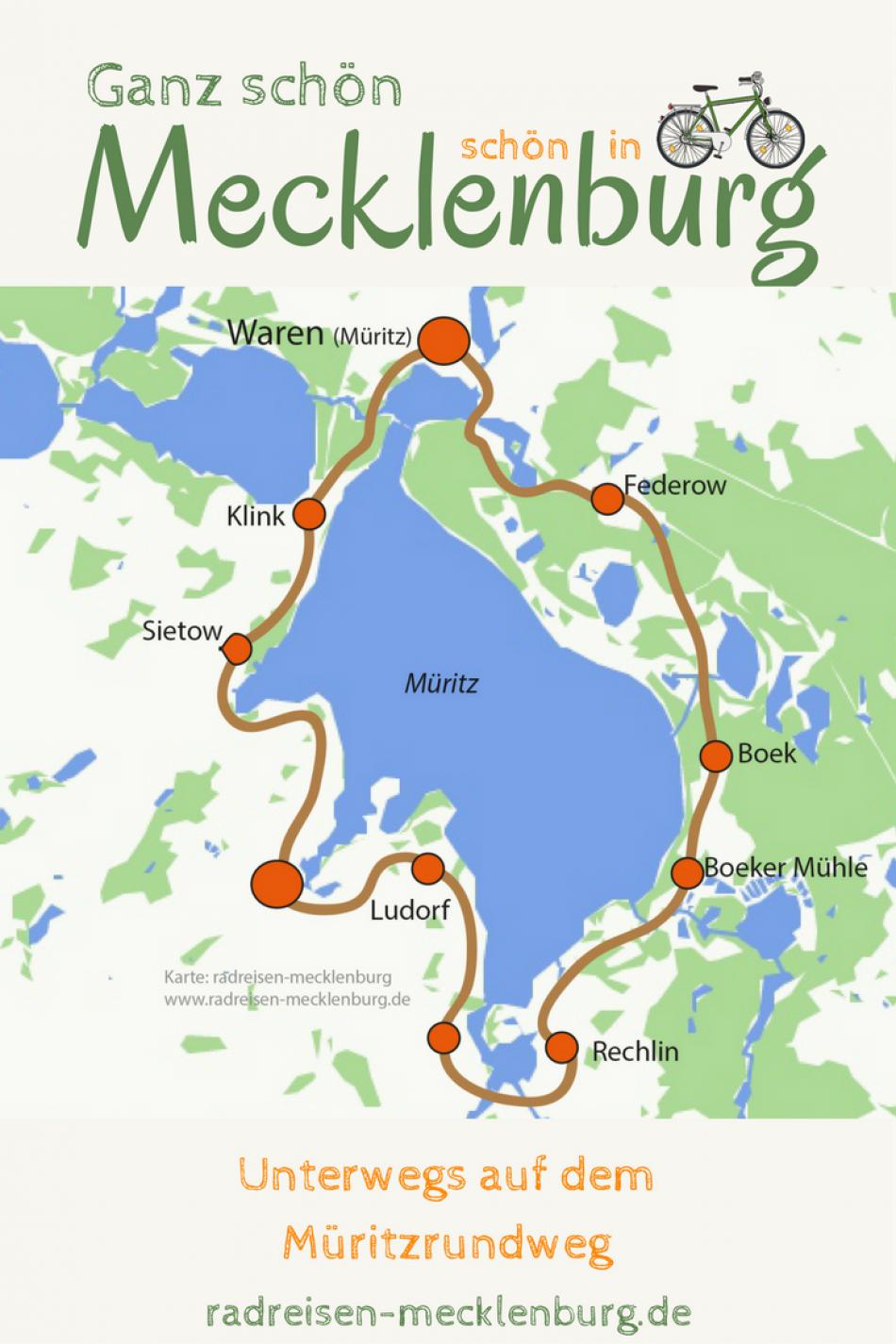 Radweg Mecklenburgische Seenplatte Karte.Mit Dem Fahrrad Um Die Müritz Radeln Eine Schöne Idee Für Einen