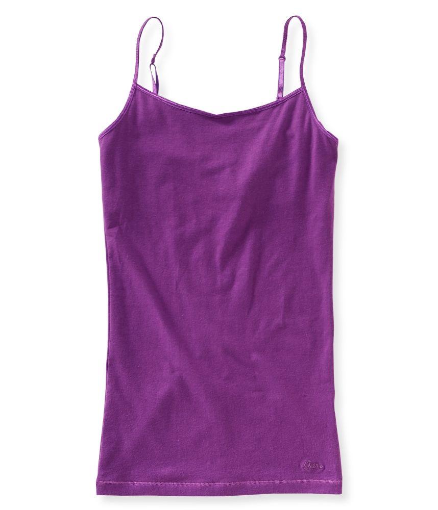 9957823fab506d Solid Basic Cami - Aeropostale Purple-Size Medium