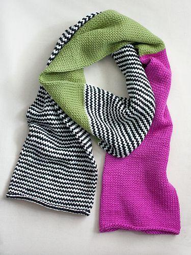6c8716b4c785e Ravelry: Color Block Scarf pattern by Heather Walpole   knitting ...