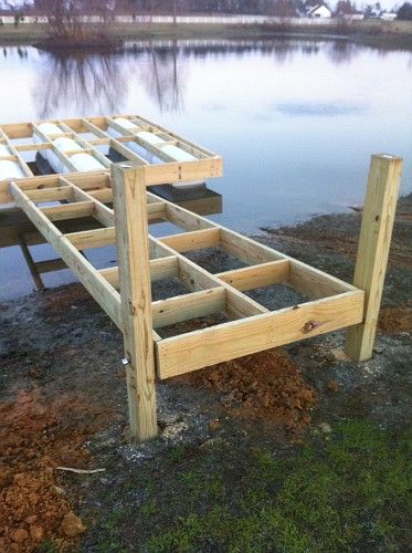 My Floating Dock Build | Property Projects & Construction | Pond ...