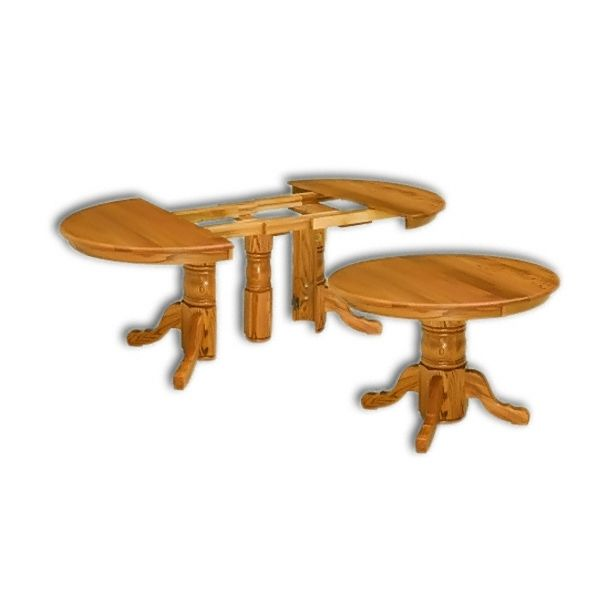 """This Pedestal table can extend from 42"""" round to 10 1/2ft ..."""
