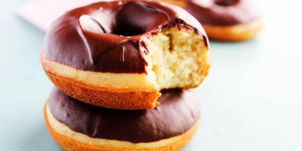 Baked Chocolate Frosted Cake Donuts Recipe Chocolate Frosting