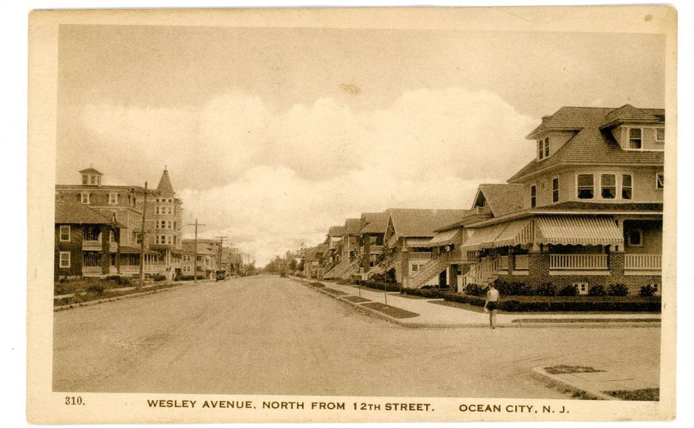 Details About Ocean City Nj Wesley Avenue North From 12th Street