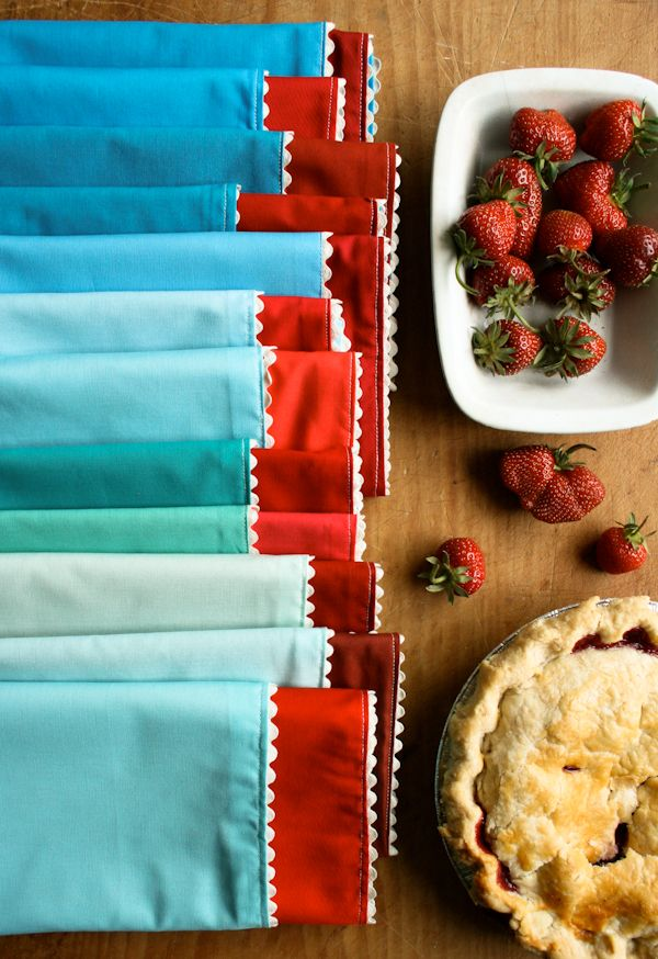 Ric Rac Napkins | DIY Sewing Projects | Purl bee, Sewing