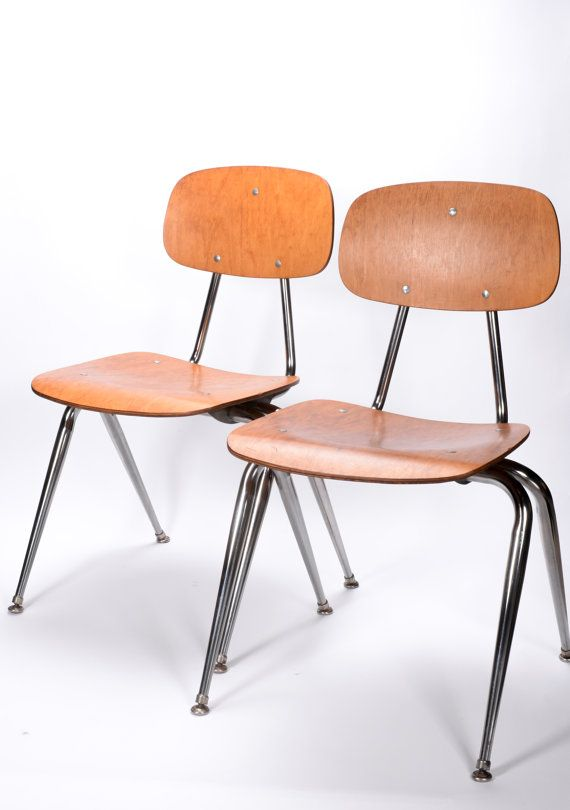 Vintage Mid Century Modern Pair Eames Style Molded Plywood And