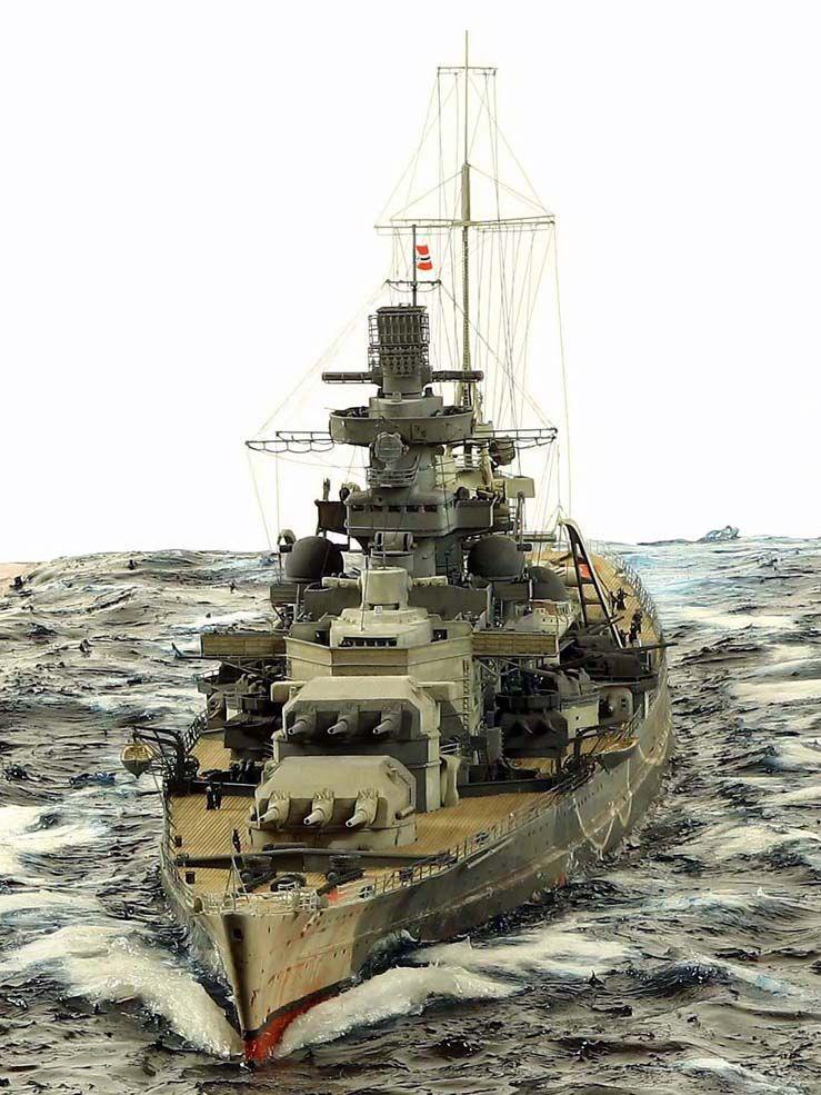 Scharnhorst 1/350 Scale Model Diorama | Ships WWI & WWII