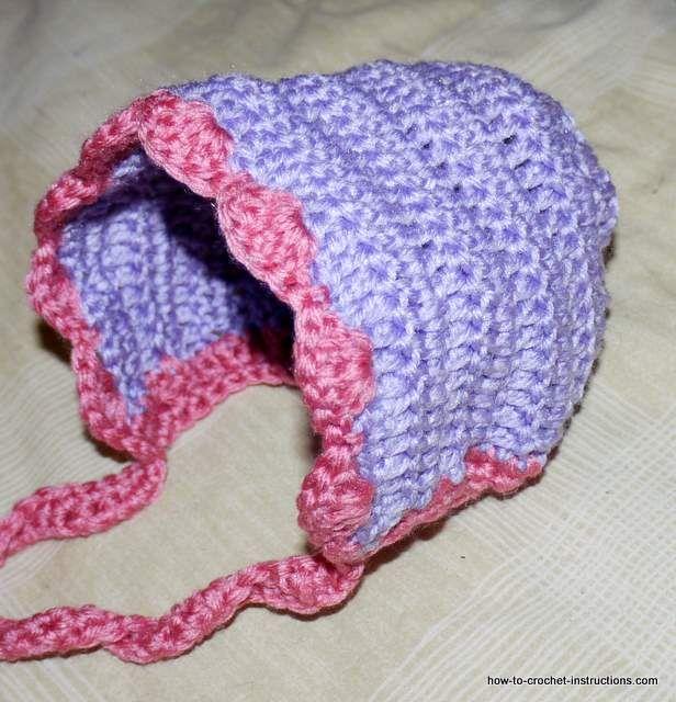 Crochet newborn bonnet to make this cute crochet baby bonnet you free instructions for a delightful crochet baby bonnet dt1010fo