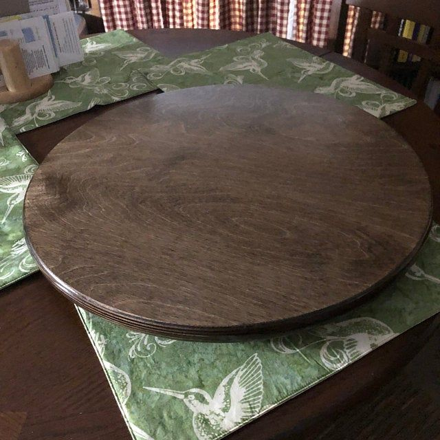 Large Wood Lazy Susan For Dining Table Dining Table Table Lazy