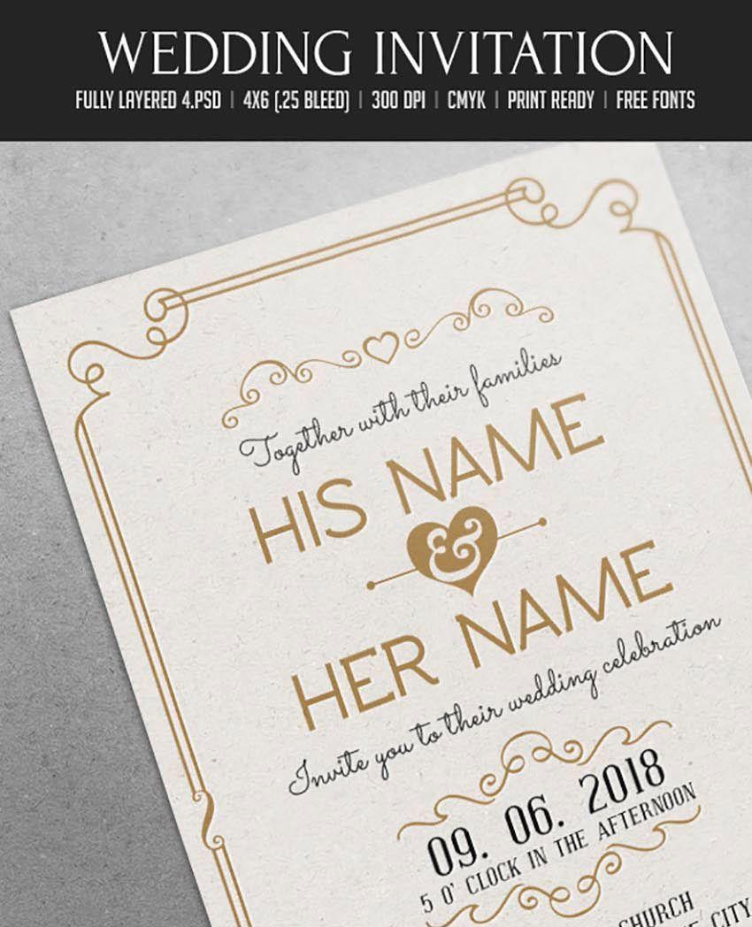 Invitation Wedding Psd