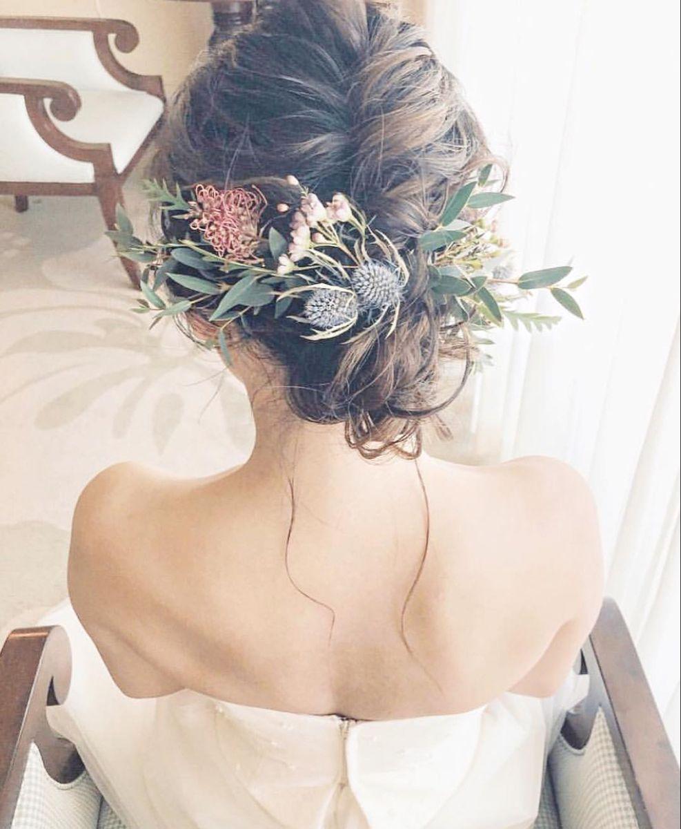 最新版 花嫁の髪型100選 ウェディングドレスや和装に合うヘアスタイル特集 結婚式準備はウェディングニュース ウェディング ヘアスタイル 花嫁 髪型 ブライダル 髪型