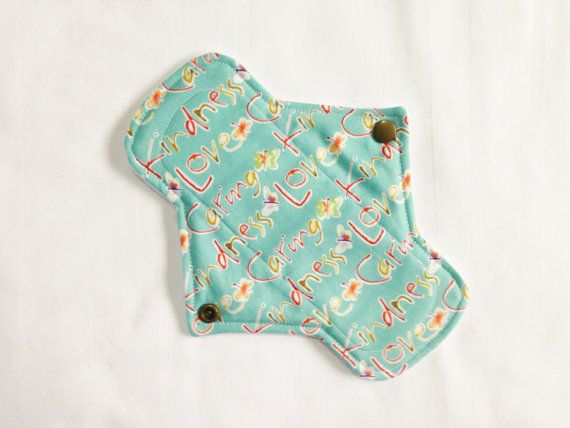 """Cotton topped Petite 8"""" L/R cloth menstrual pad by Lady Days Cloth Pads on Etsy, £4.50"""