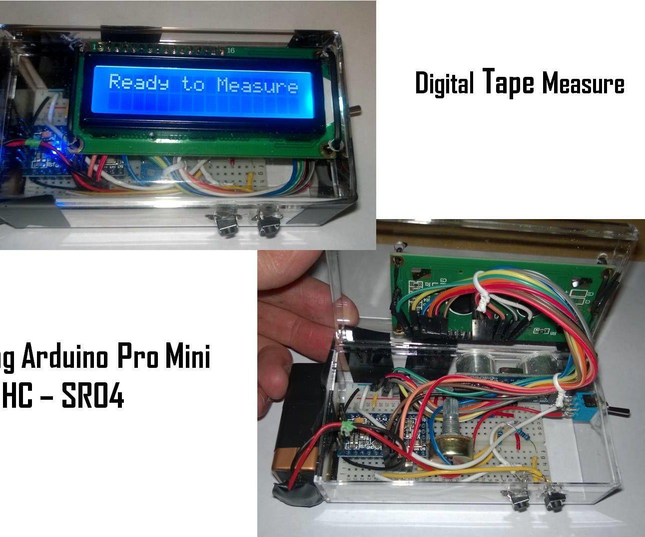 Digital Ultrasonic Tape Measure Tape measure, Arduino
