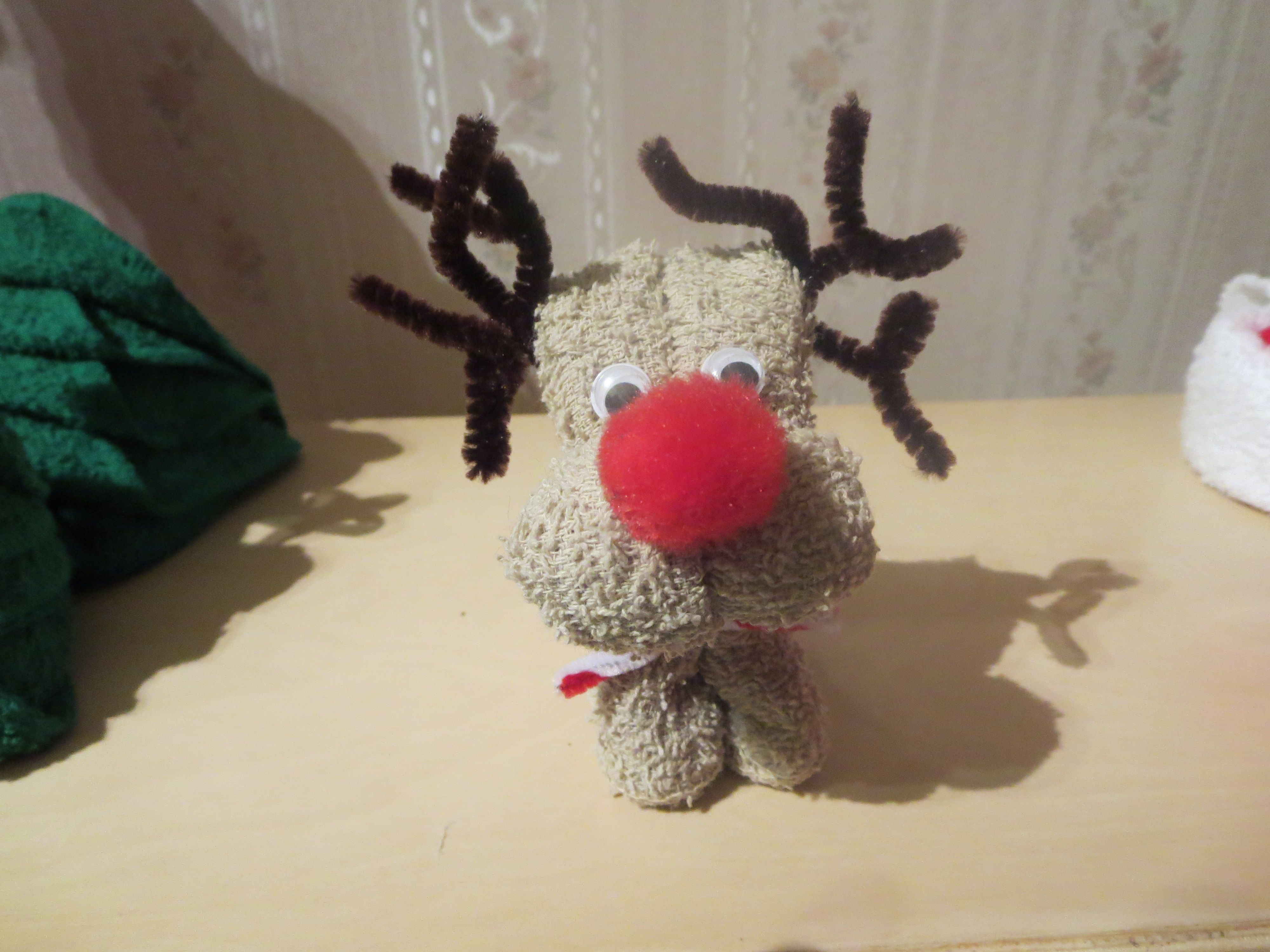 Reindeer Made With Washcloth