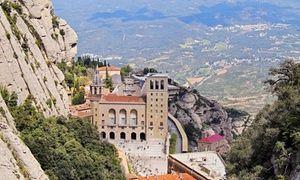 Santa Maria de Montserrat abbey in Catalonia, Spain.