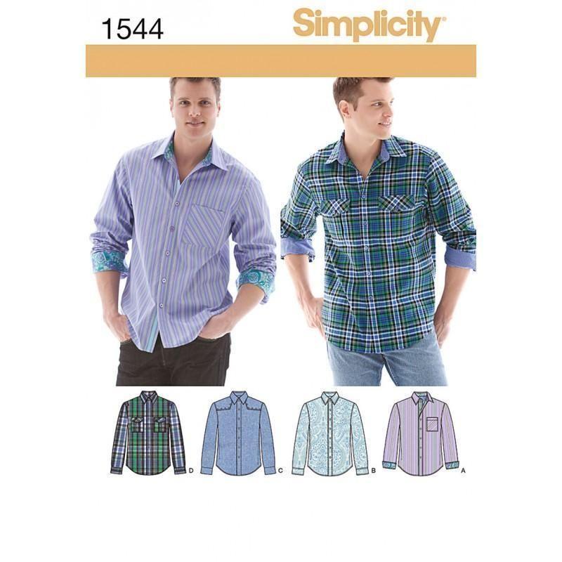 1544 Simplicity Mens Shirt | Sewing Patterns | Pinterest