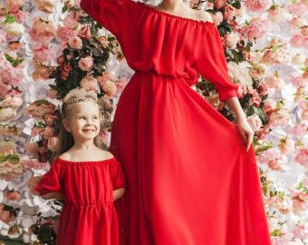 Waves matching mother and me dresses family by dressionate