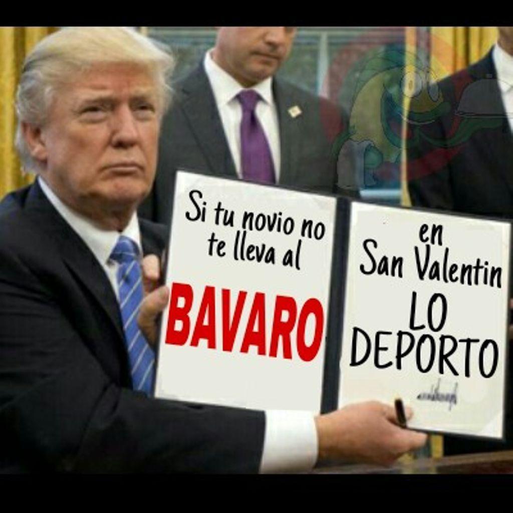 Hoy dile a tu novio #EnvezdePeluchesQuiero ir al BAVARO para tener un #FelizSanValentin #ATuLado y Donald Trump lo sabe #CupidotePido