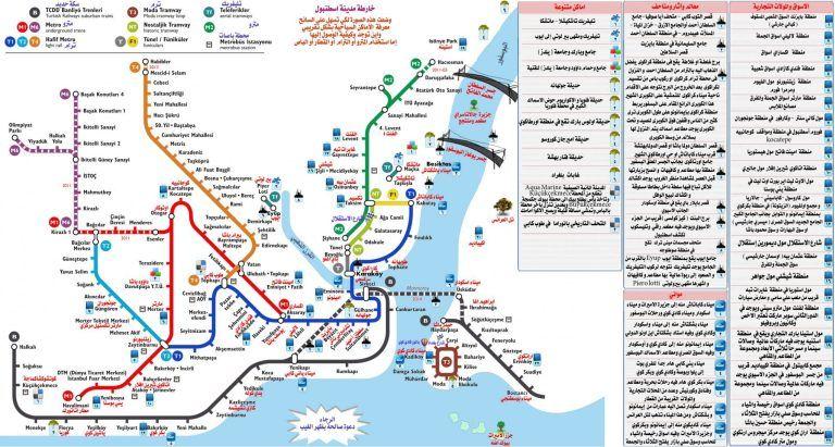 خريطة اسطنبول بالعربي مفصلة شركة اسطنبول للخدمات العامة في تركيا Map Istanbul Travel Timeline Covers