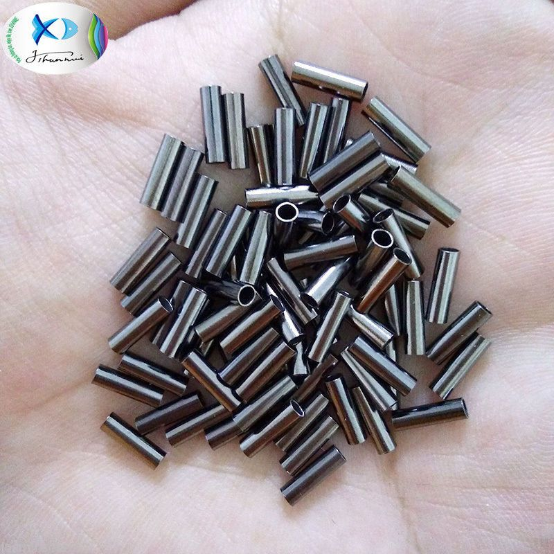 Single Brass Fishing Crimp Sleeves Copper Tube Wire Leader Sleeve Size 0.6-2.5mm