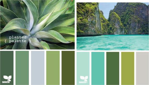 Теплый и холодный зеленый цвет   Зеленый, Цветы, Оттенки ...