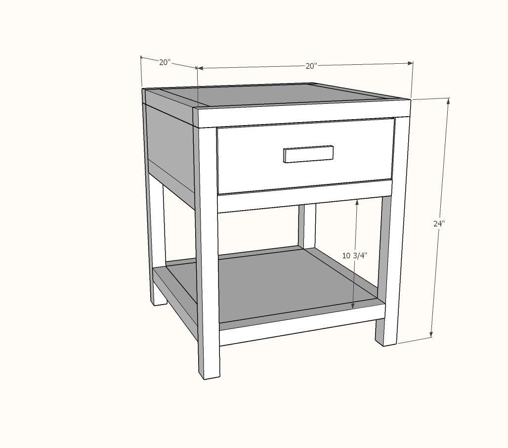 Simple Modern Bedside Table | Modern bedside table, Diy ...