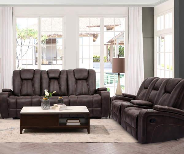 Jamestown Espresso Motion Sofa in 2020 Living room warm