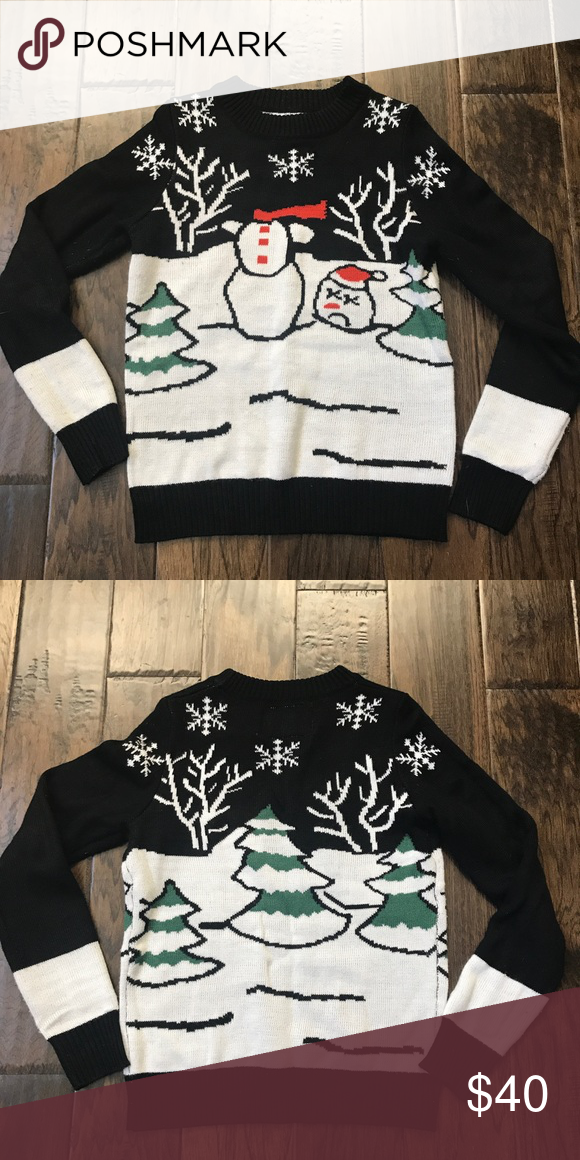519efabb3341 Tipsy Elves Ugly Christmas Sweater Wear this Headless Snowman ...