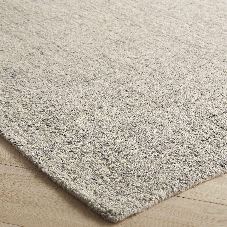 boucle viscose gray 9x12 rug