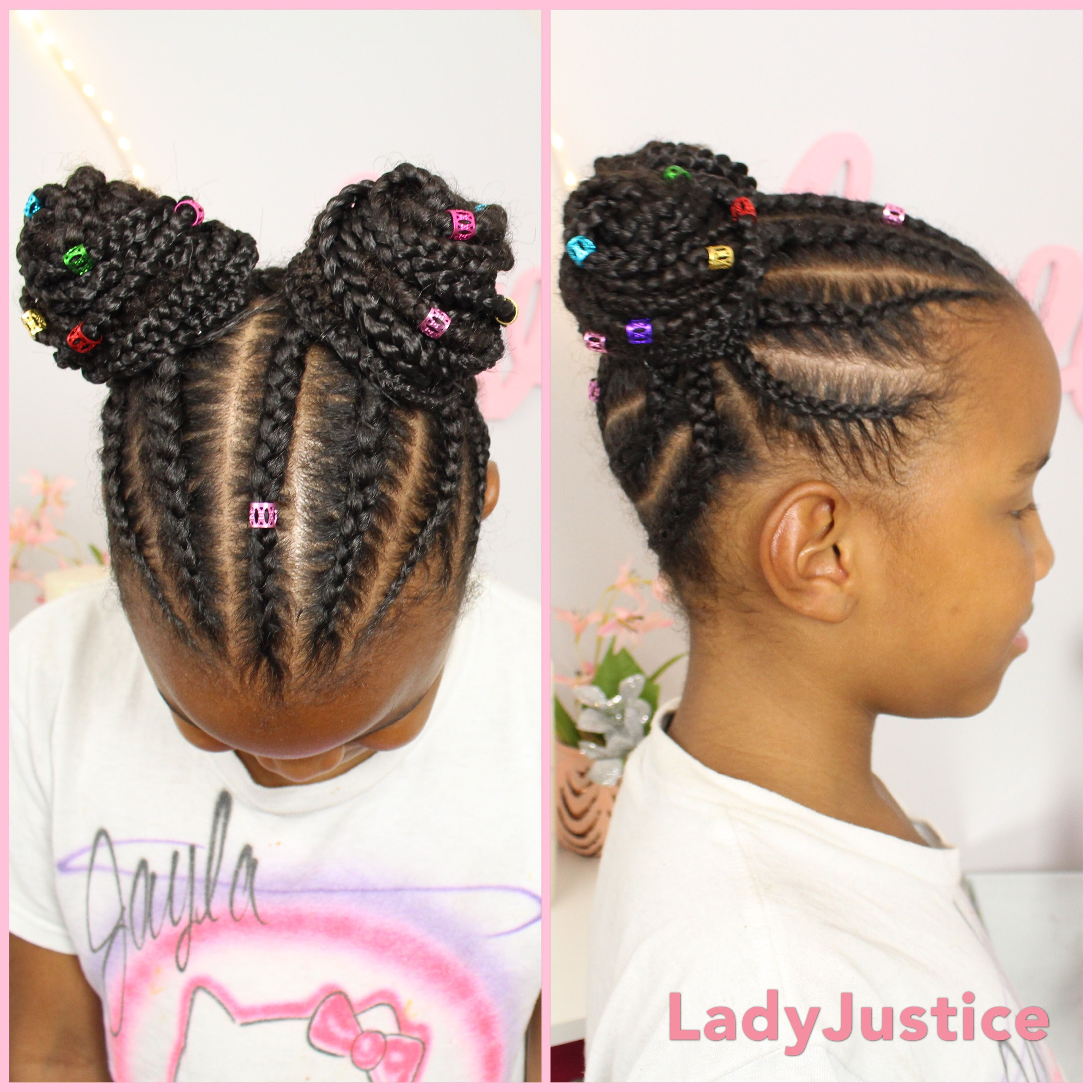 Braided Buns With Hair Extensions Great Back To School