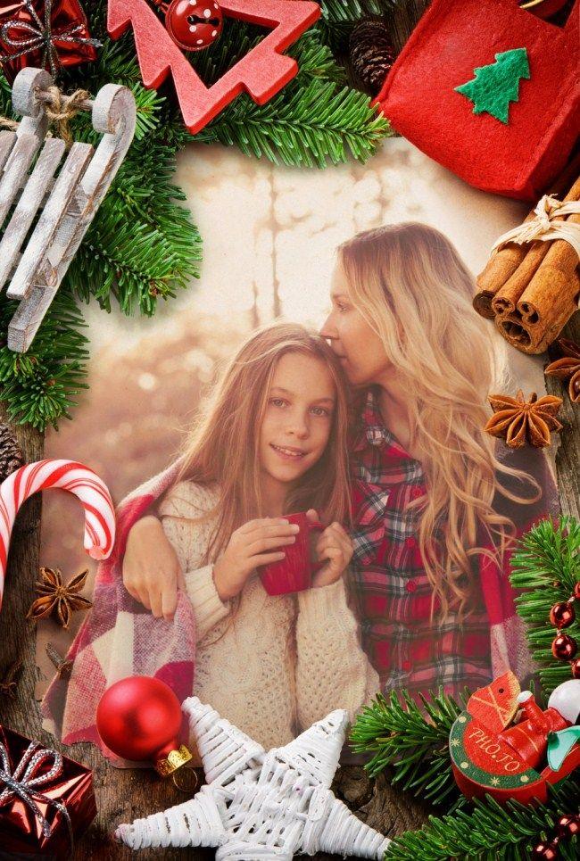 Merry Christmas Photo Frame Cards | Frameswalls.org