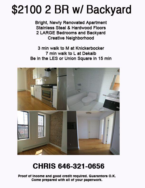 2100 2br1ba at Stanhope & Wilson. Call Chris at 646321