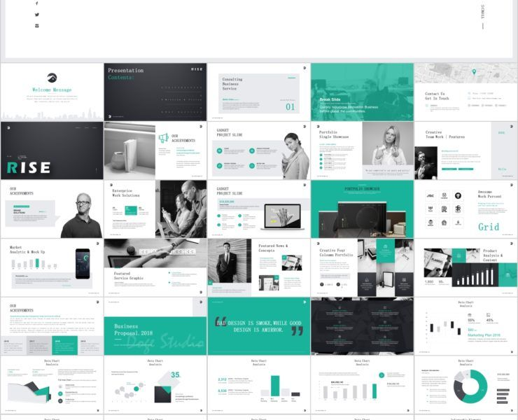 51 Company Business Report Powerpoint Template Powerpoint