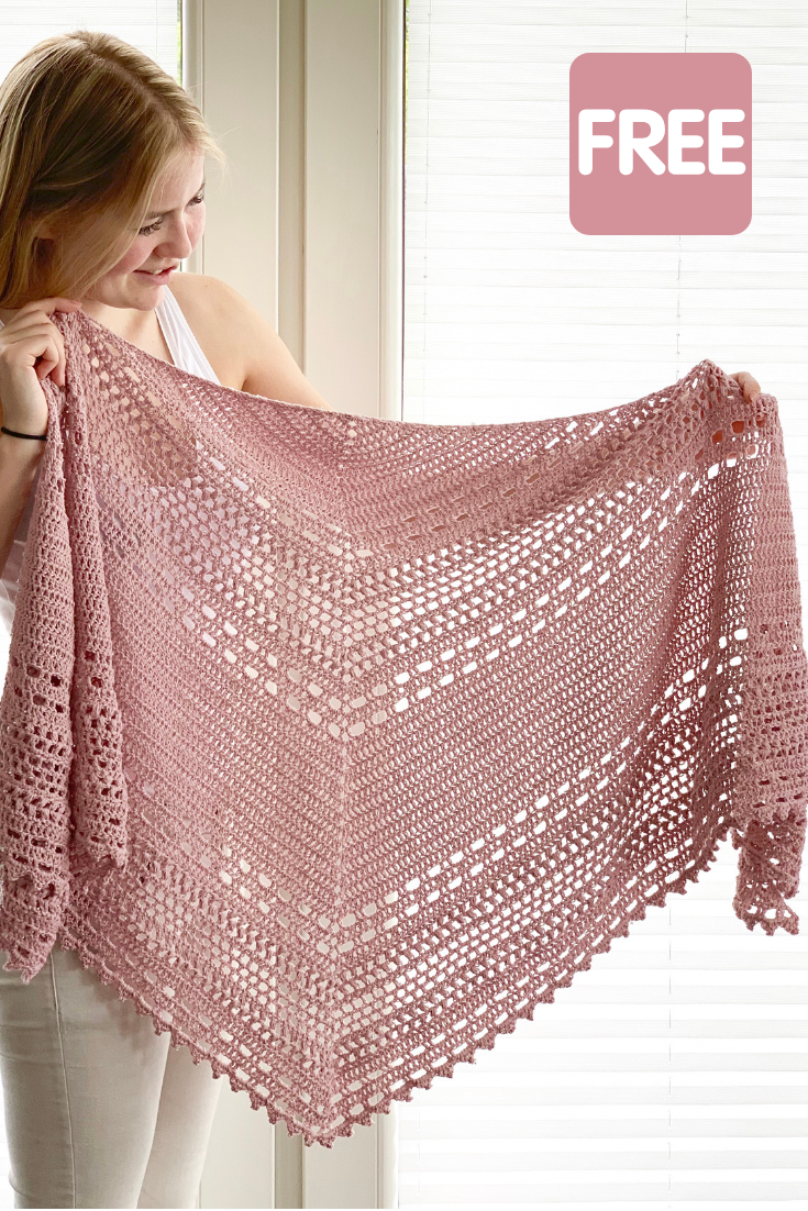 Crochet Shawl free pattern: Bella Vita Shawl by Wilmade