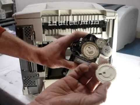 how to fix grinding noisy hp laserjet 4200 4300 4250 4350 swing plate RM...
